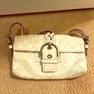 COACH off white shoulder bag